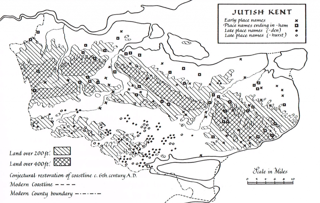 The development of place names in Jutish Kent