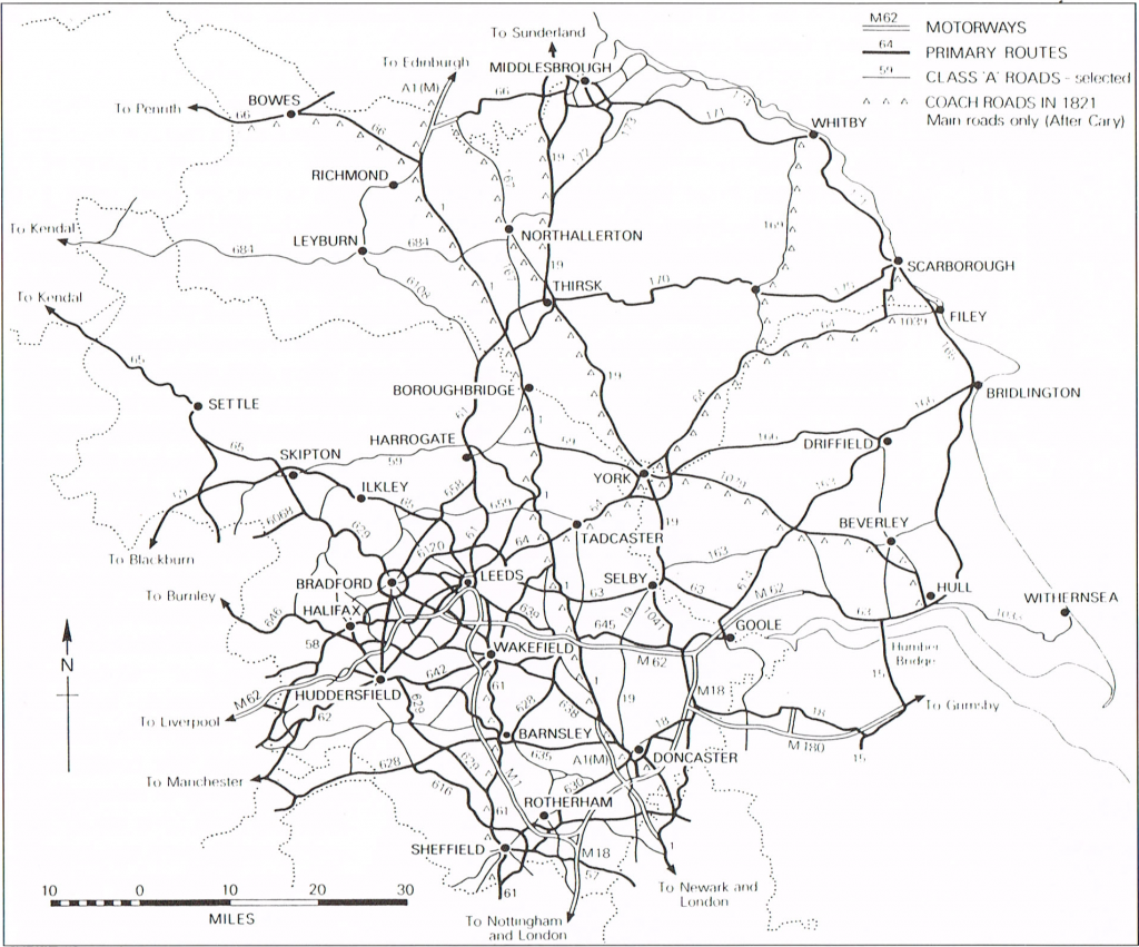 Yorkshire's road system