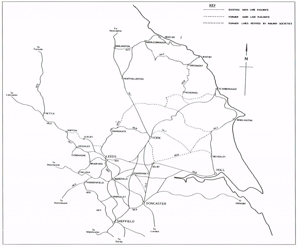 Yorkshire's railway system