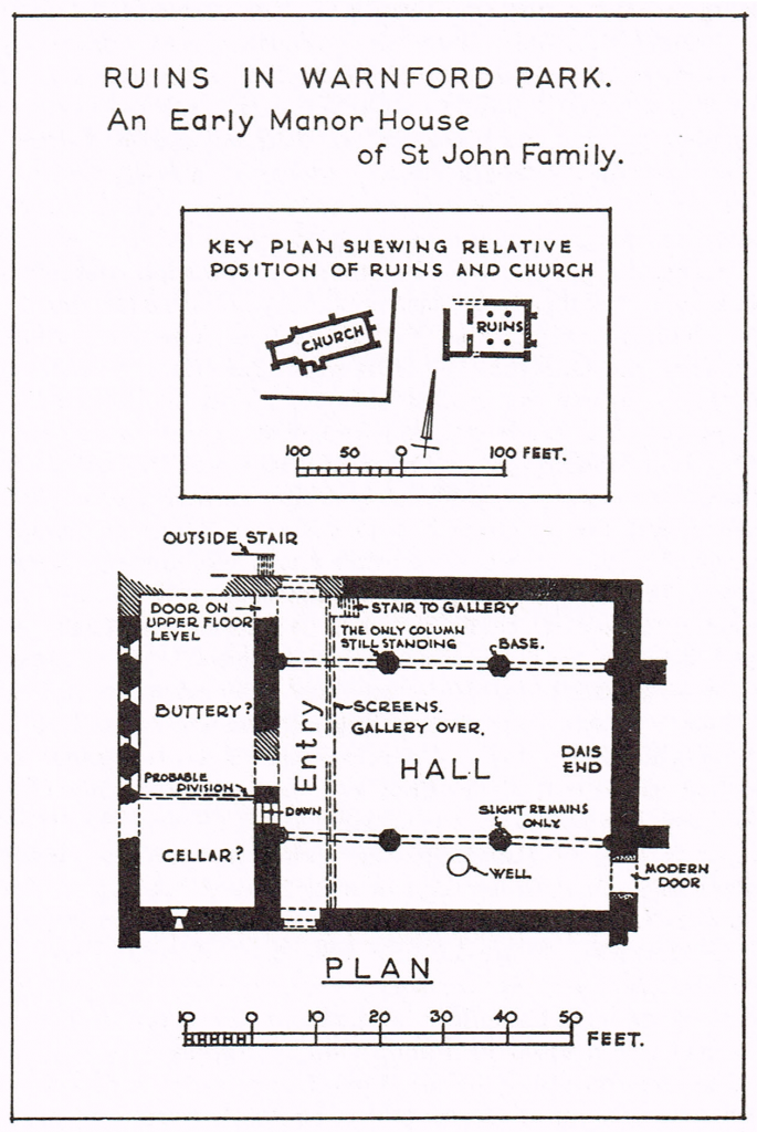 Map 4 A manor house of the de Port, later St. John family in Warnford Park