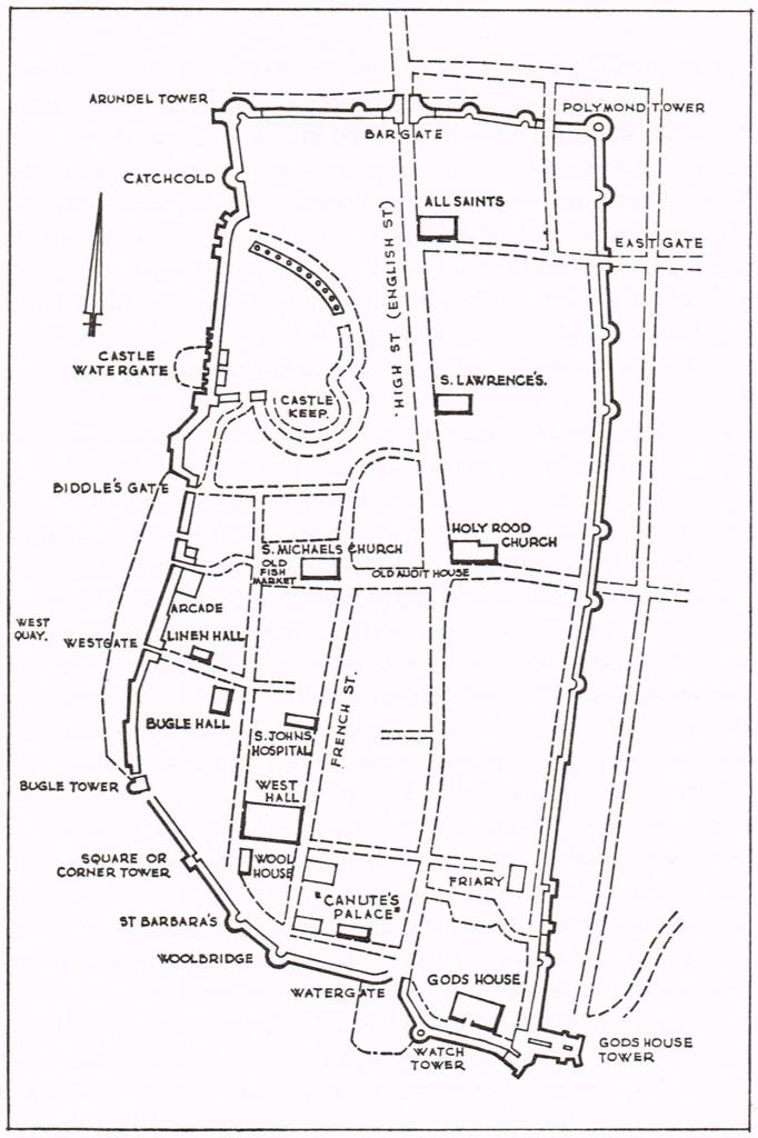 Map 5 Medieval Southampton