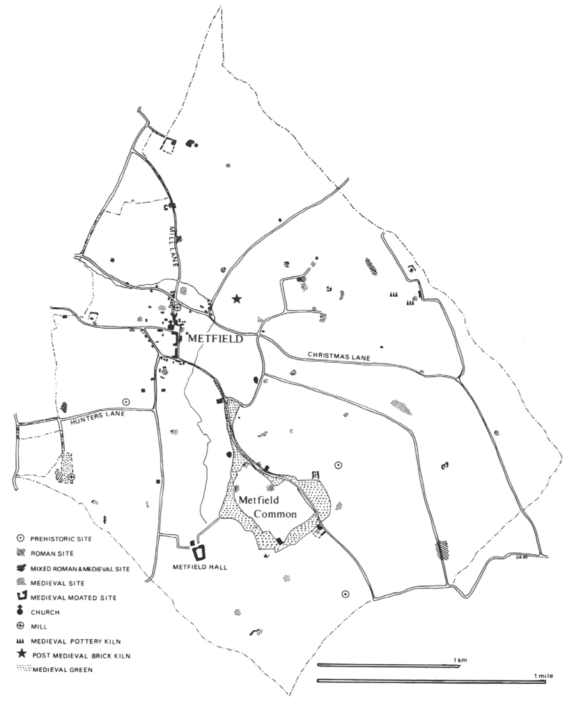 Settlement history of the Suffolk Parish of Metfield