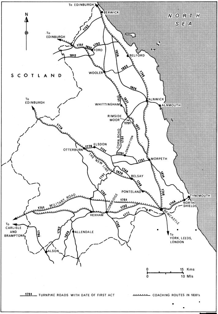 Turnpike Roads Northumberland