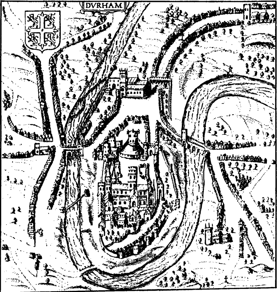 Map of Durham by John Speed, 1610