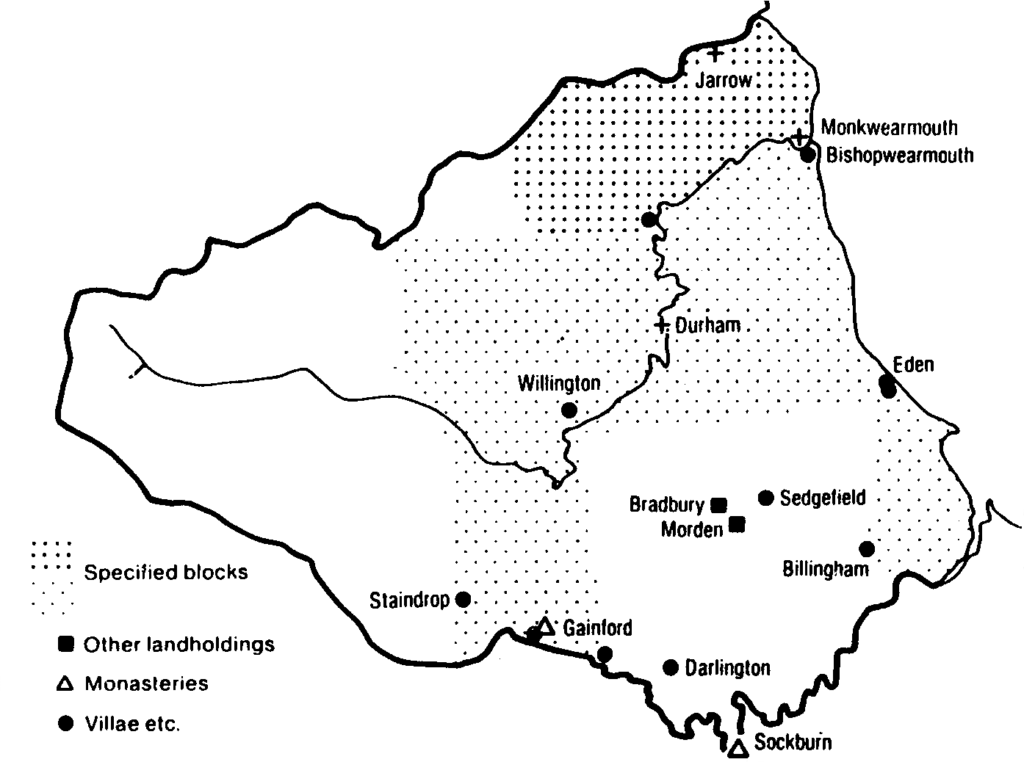 Lands of the St. Cuthbert Community, ninth century