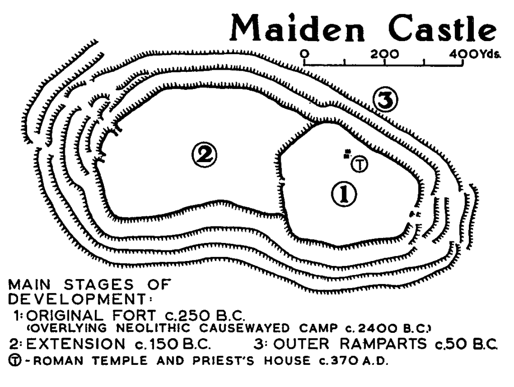 Plan of Maiden Castle