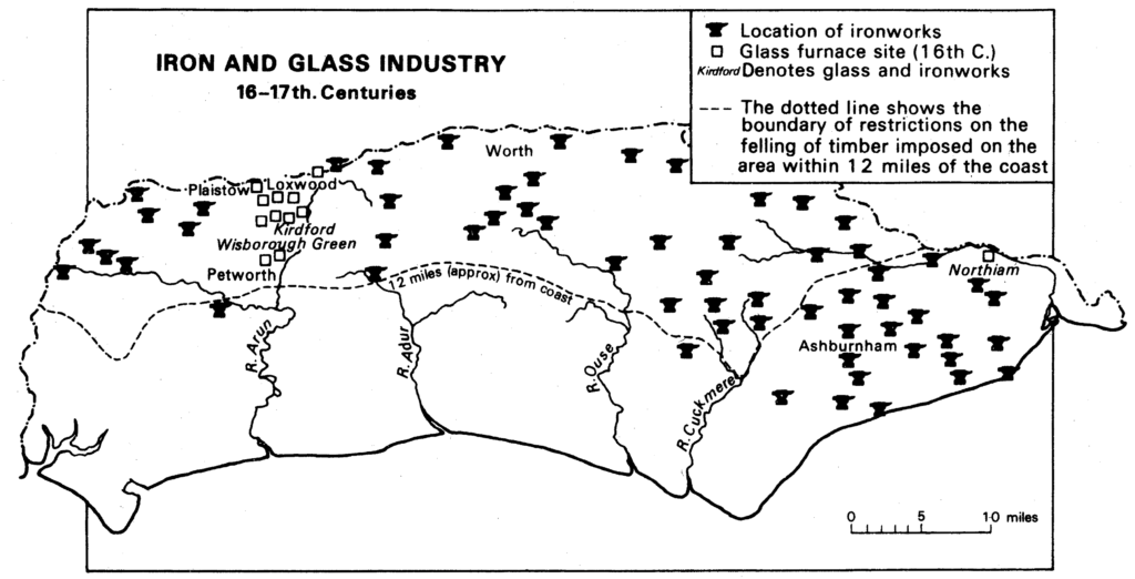 Iron & Glass Industry 16th - 17th Centuries