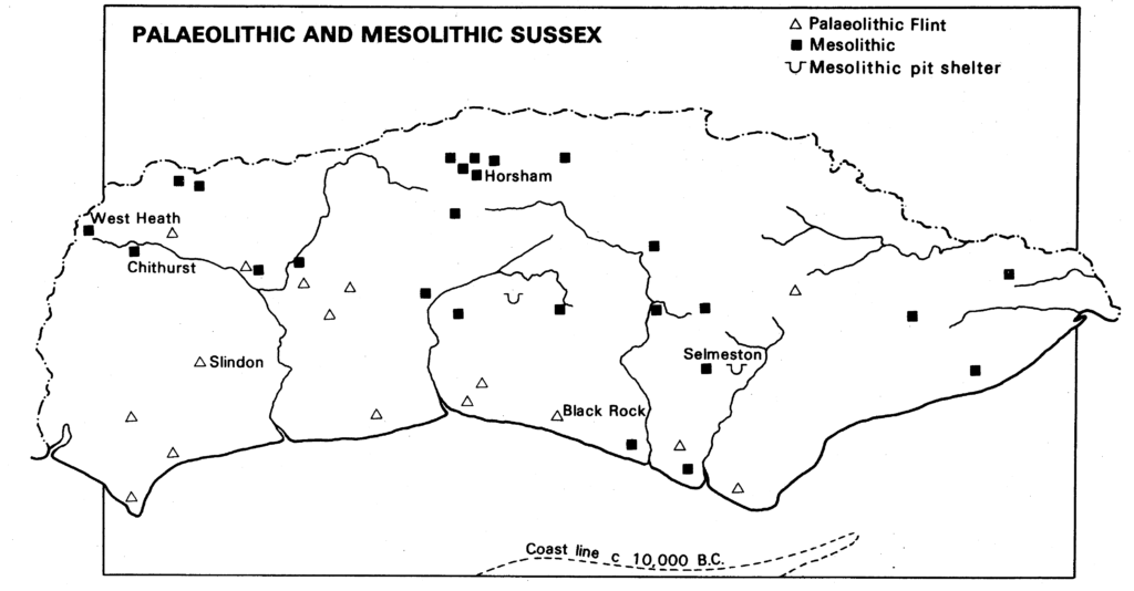 Palaeolithic and Mesolithic Sussex