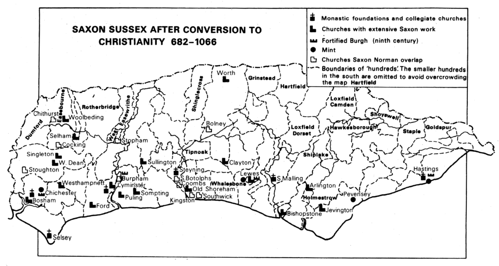Saxon Sussex After Conversion to Christianity
